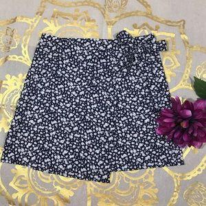 Cotton On Floral Wrap Mini Skirt Sz Sp (J35)